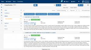 Averbis Patent Monitor Screen