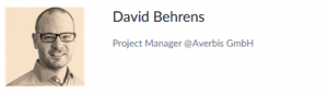 David Baehrens, Project Manager Averbis GmbH
