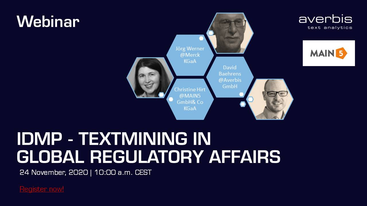 Webinar - IDMP Textmining in global regulatory affairs