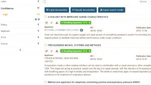 Patent Monitor Demo Classifier Confidence high