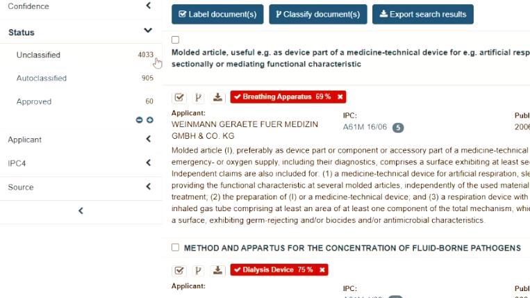 Patent Monitor Demo Classifier